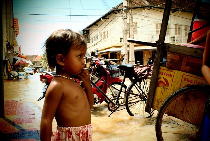 water in de straat